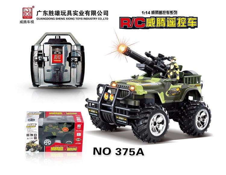 1:14军事枪炮声效越野遥控车 375A