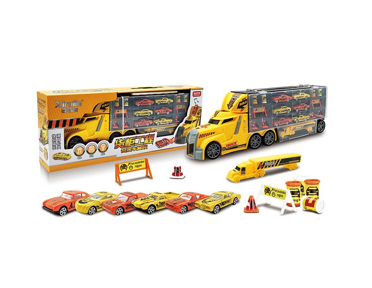 滑道收纳货柜合金车套装(4款混装) YF8318