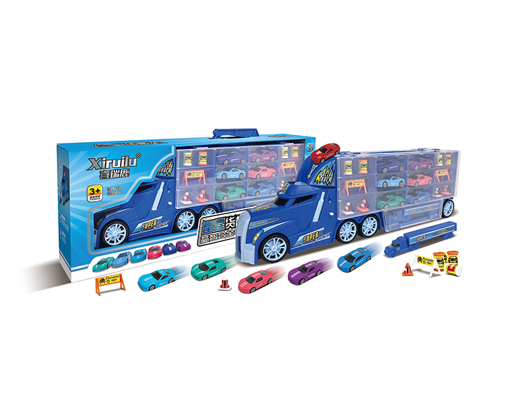 雷霆货柜车配6只小车 YF8332