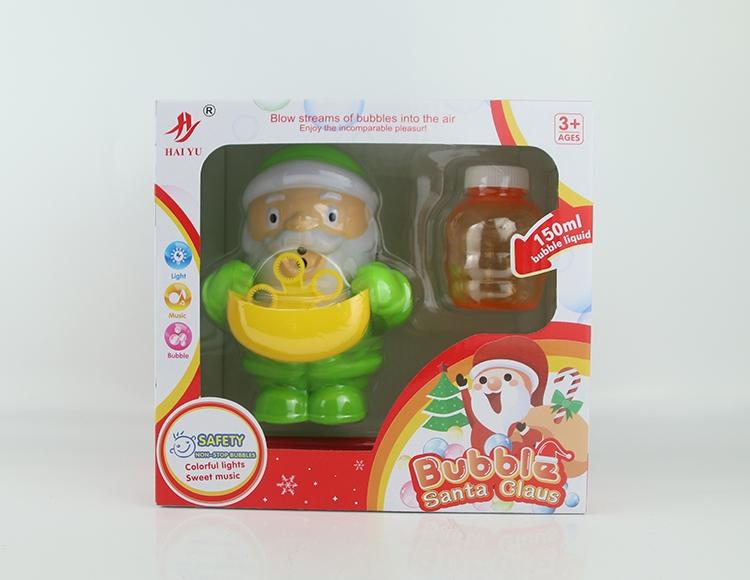 全自动灯光音乐圣诞老人泡泡机 8801B