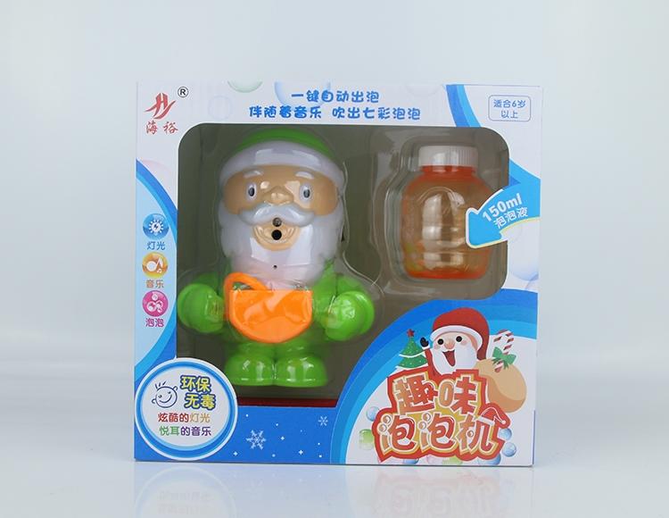 全自动灯光音乐圣诞老人泡泡机 8801A